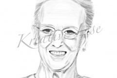 Portræt af Dronning Margrethe