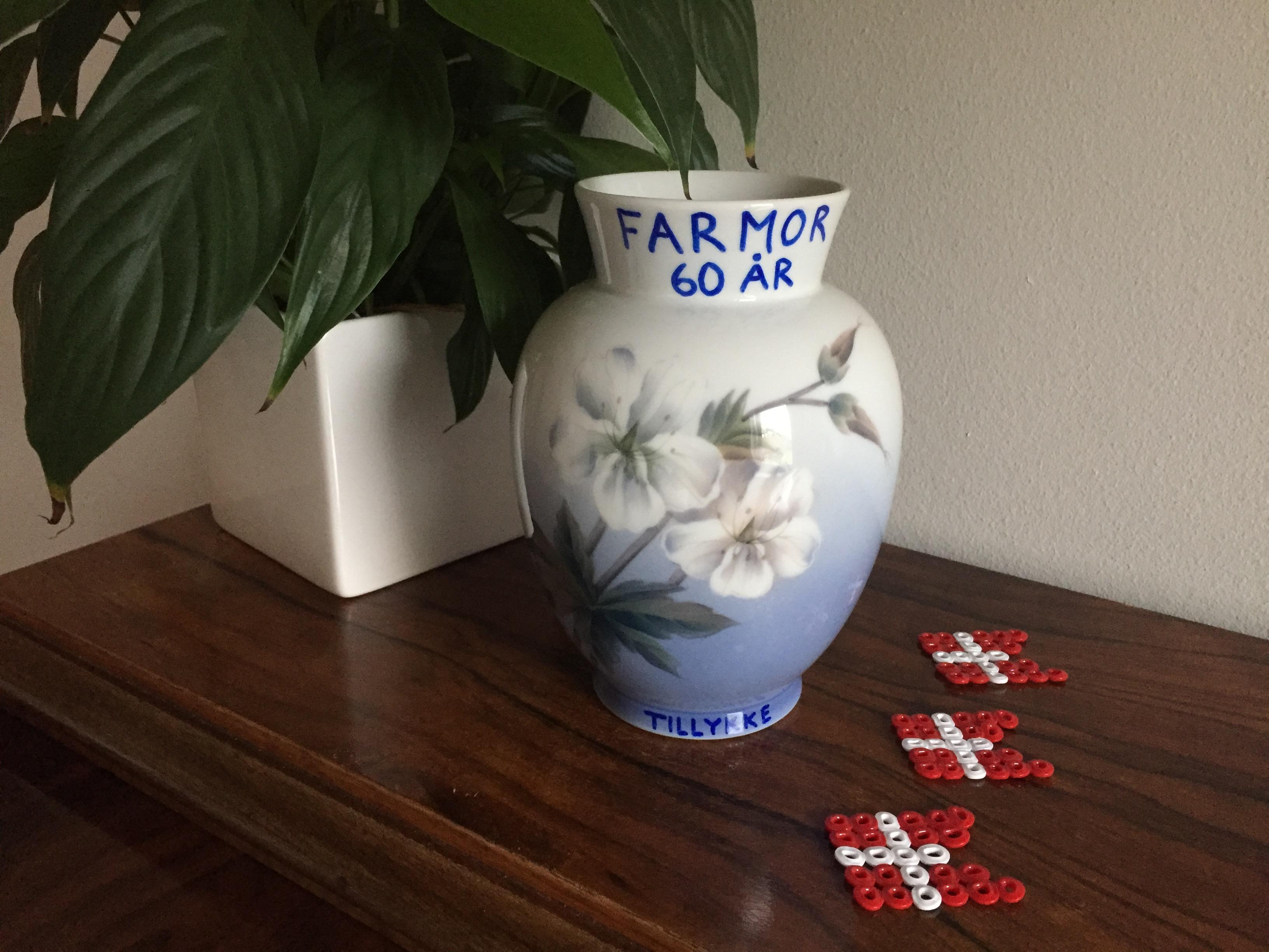 En personlig vase til Farmor