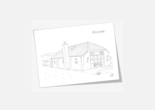 Kreative Lise - Lokale kort fra THY - Vorupør gamle redningshus