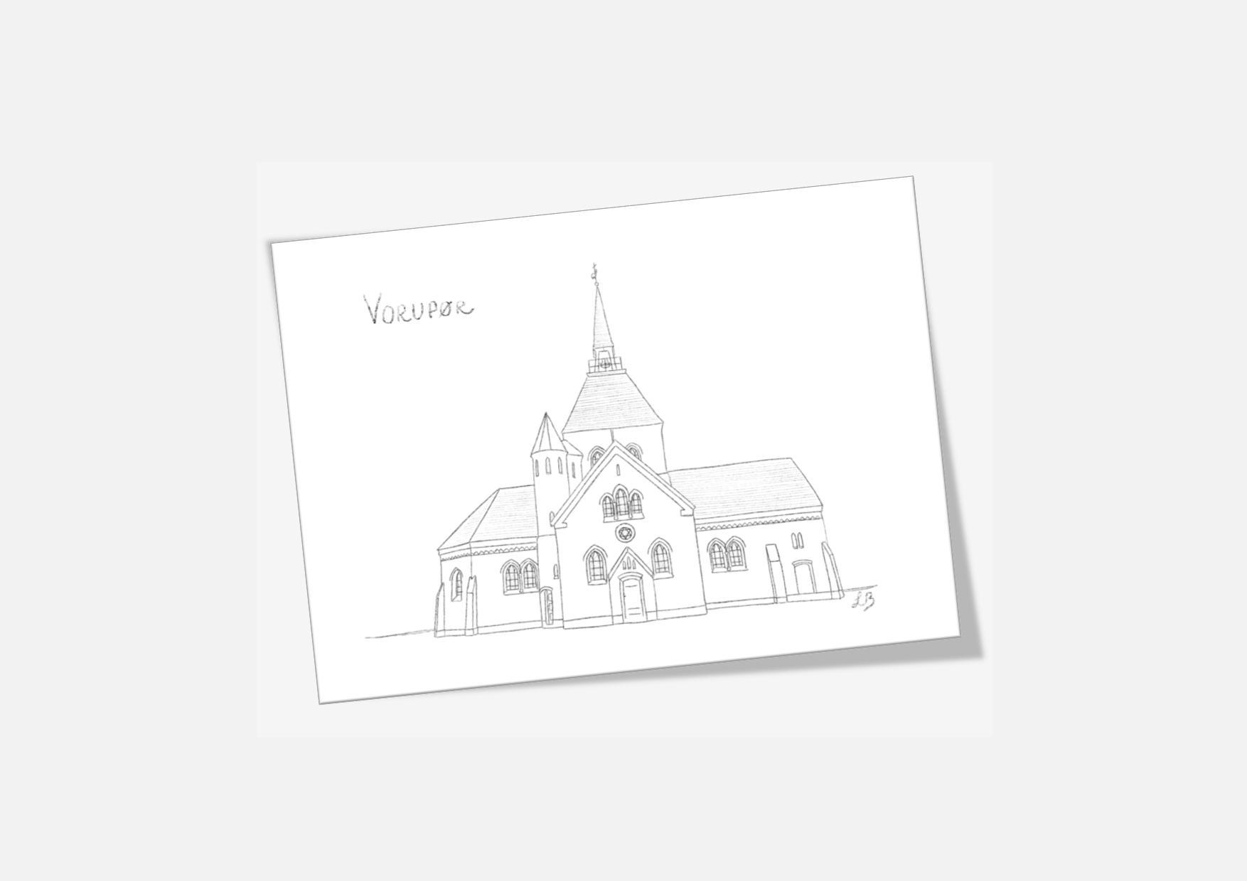 Kreative Lise - Lokale kort fra THY - Vorupør Kirke