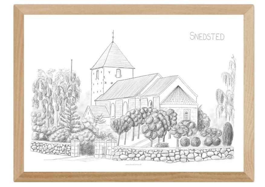 Kreative Lise - Lokale plakater fra THY - Snedsted - Kirken