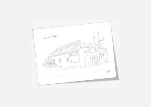 Kreative Lise - Lokale kort fra THY - Vorupør redningshus