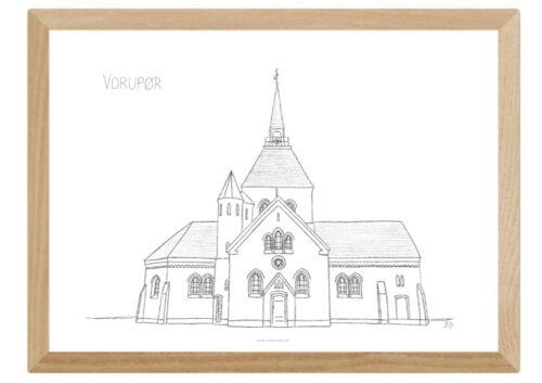 Kreative Lise - Lokale plakater fra THY - Vorupør Kirke