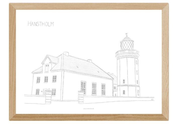 Kreative Lise - Lokale plakater fra THY - Hanstholm Fyr