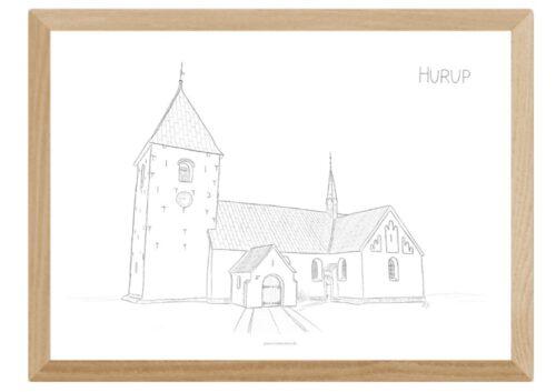 Kreative Lise - Lokale plakater fra THY - Hurup Kirke