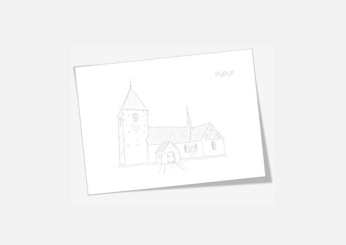 Kreative Lise - De lokale kort fra THY - Hurup Kirke