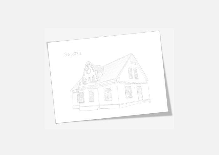 Kreative Lise - De lokale kort fra THY - Snedsted gamle FDF-hus
