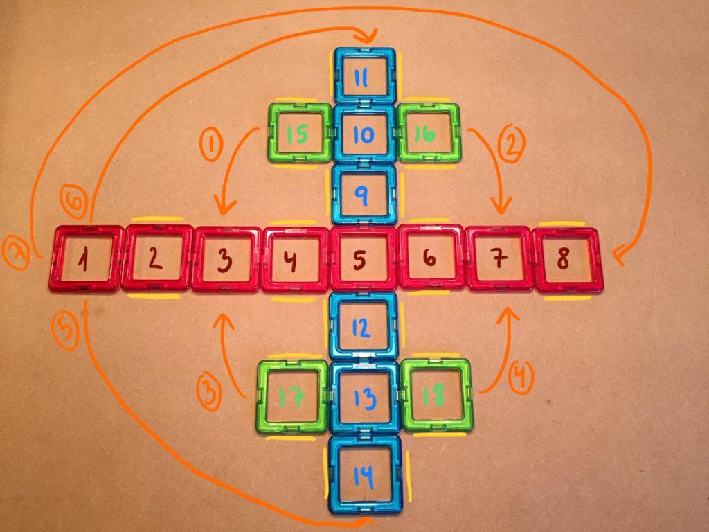 8. billede Avanceret flettet stjerne med 72 strimler - de markede sider skal flettes sammen