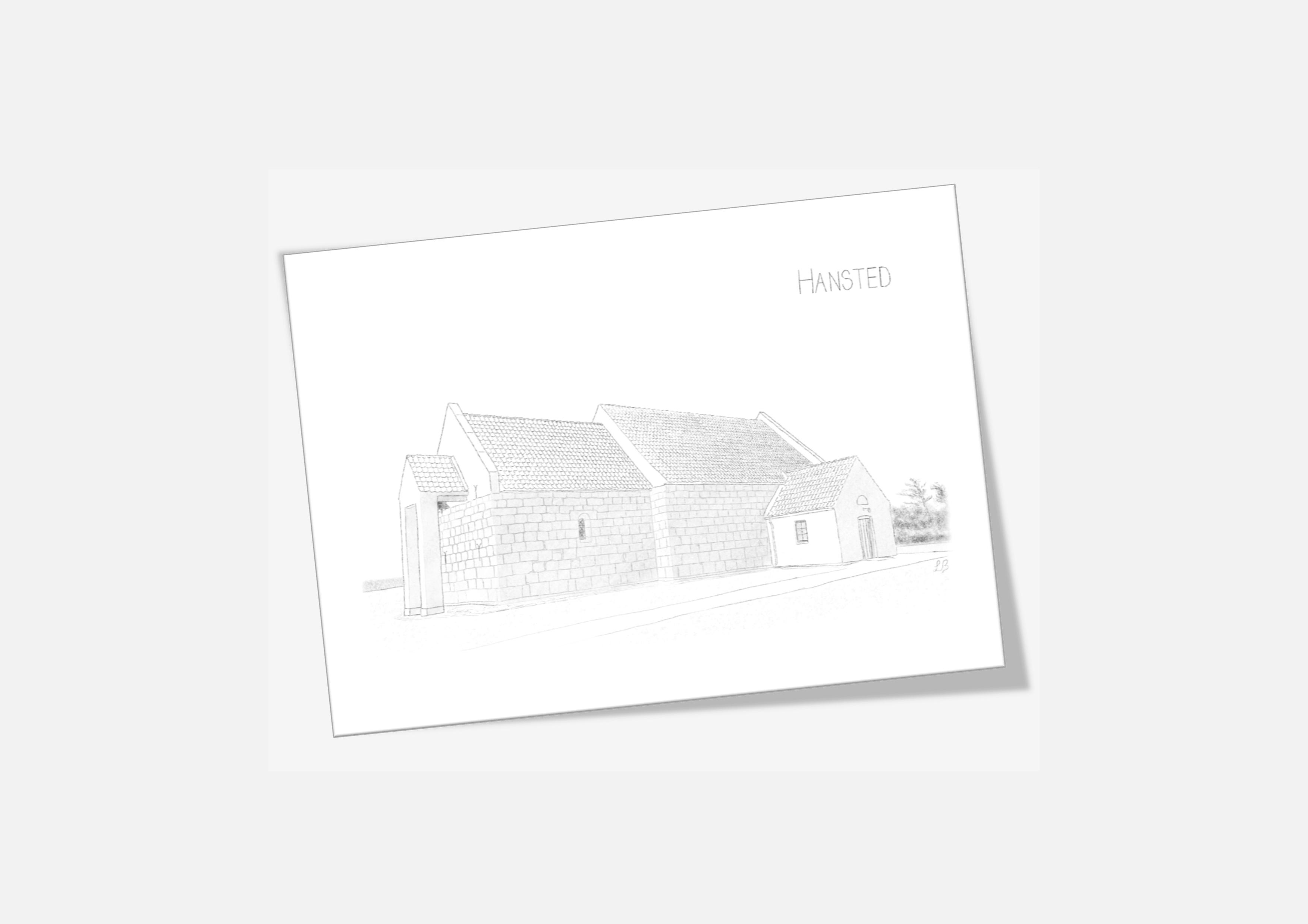 Varebillede Hansted Kirke kort