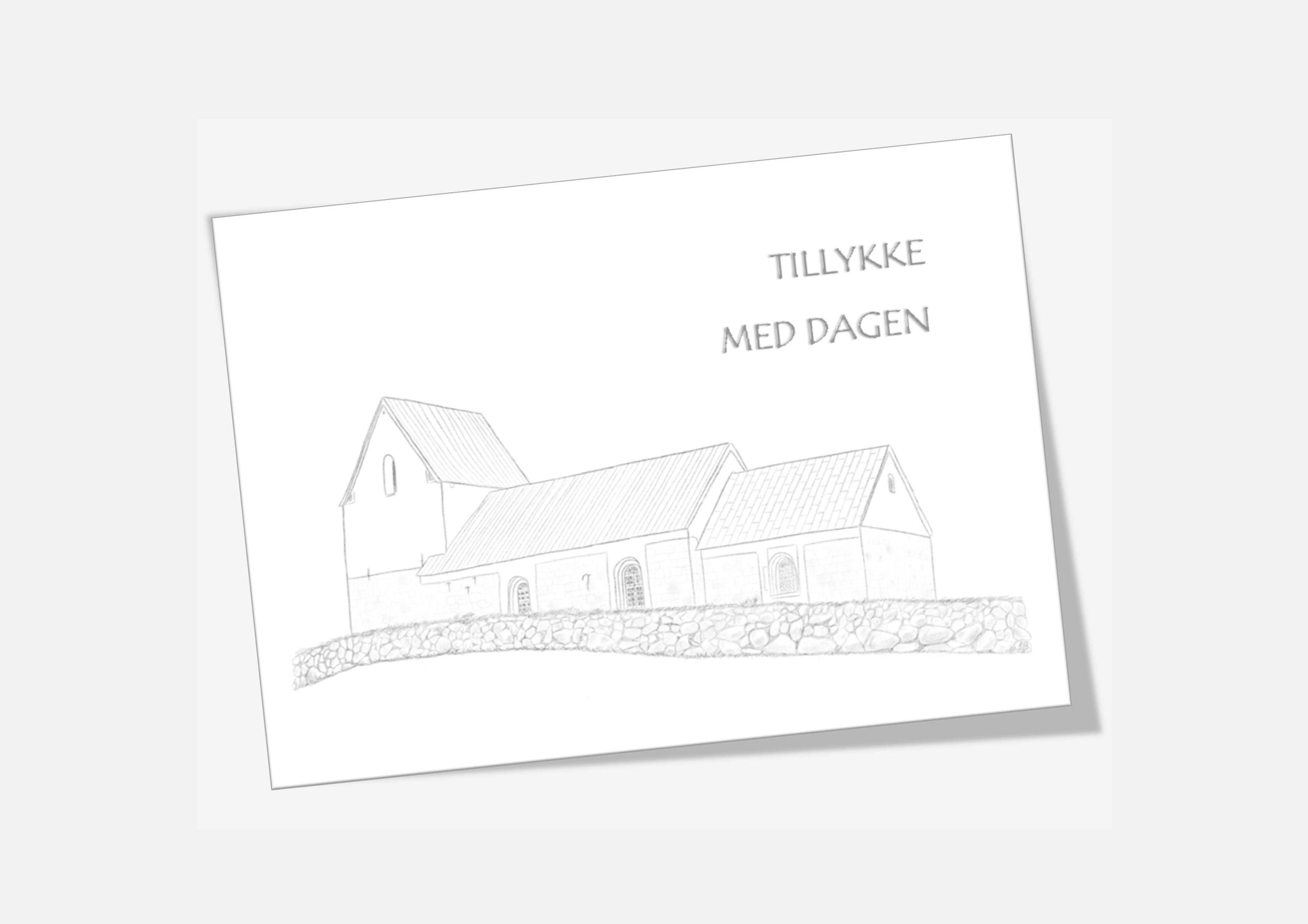 Varebillede Sønderhå Kirke telegram