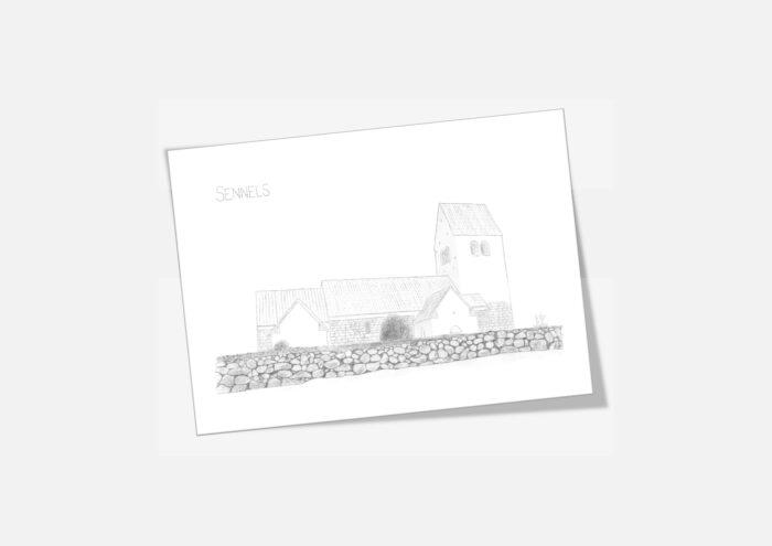 Varebillede Sennels Kirke kort