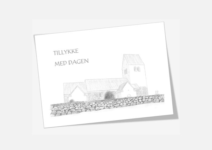 Varebillede Sennels Kirke telegram