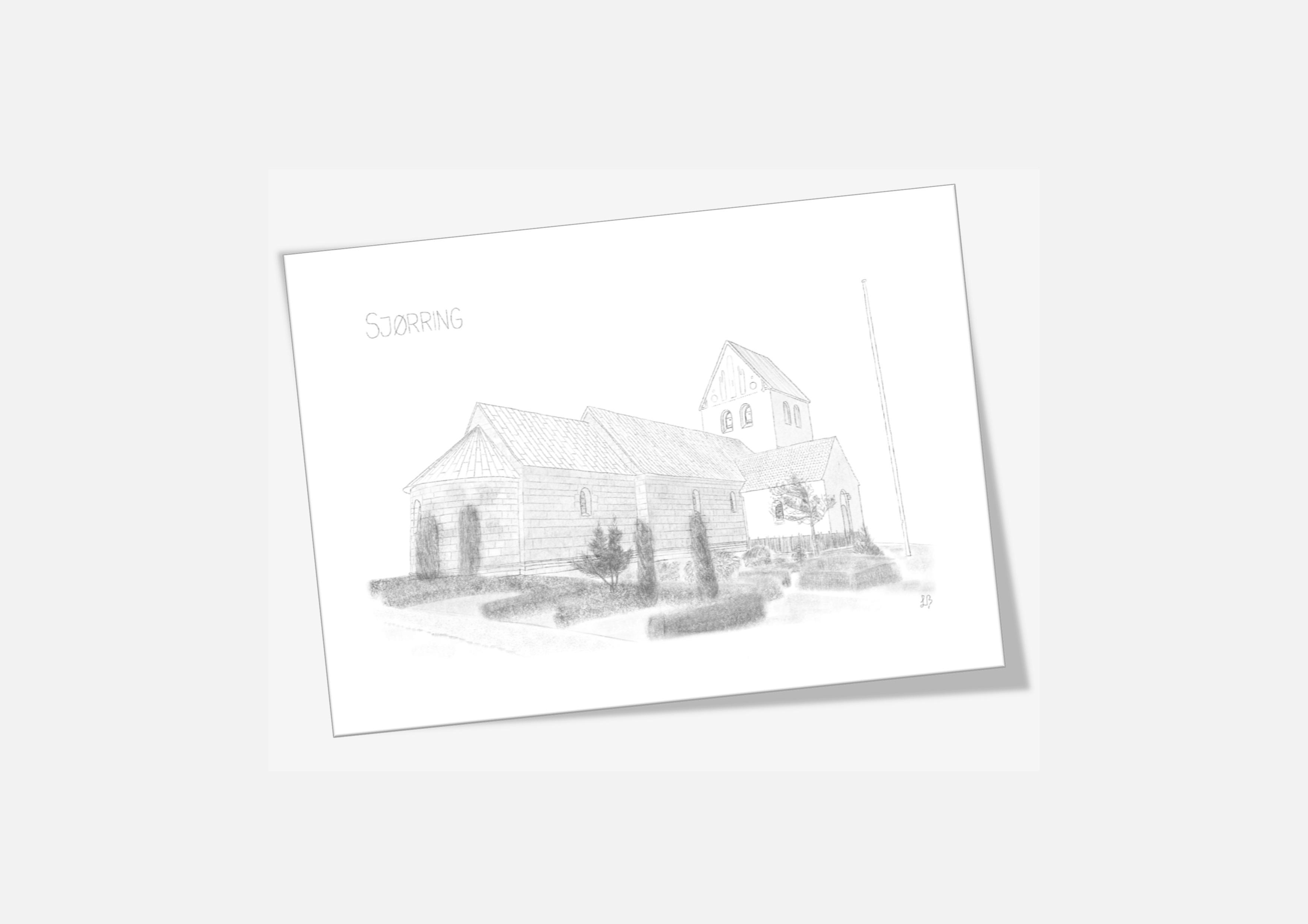Varebillede Sjørring Kirke kort