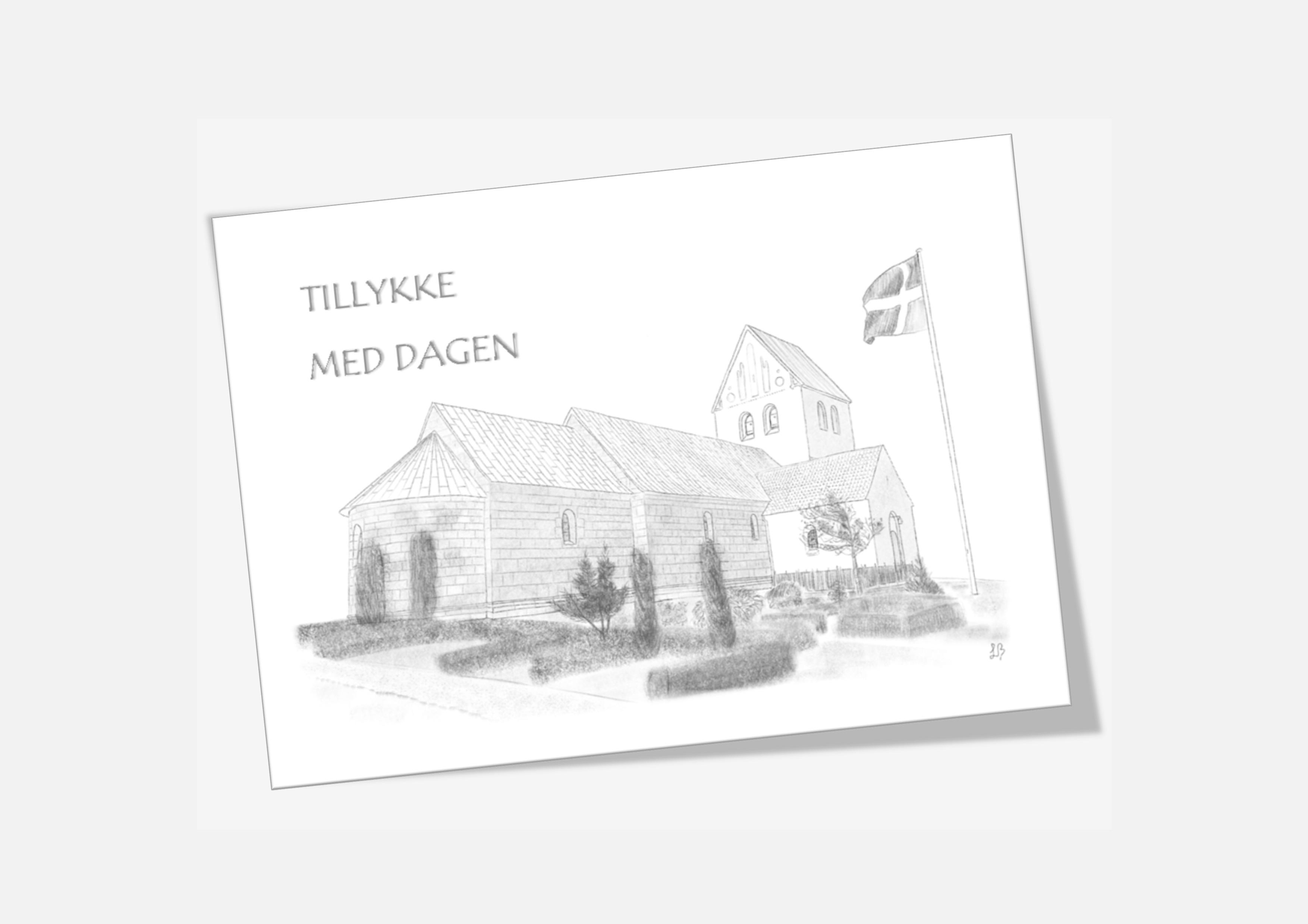 Varebillede Sjørring Kirke telegram