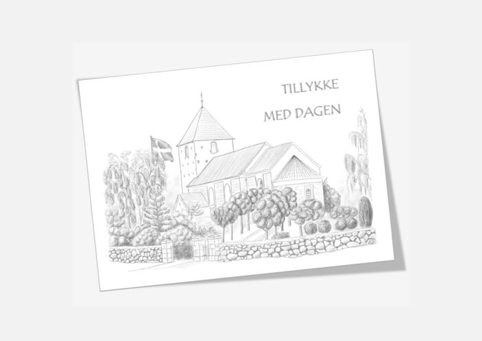 Varebillede Snedsted Kirke telegram