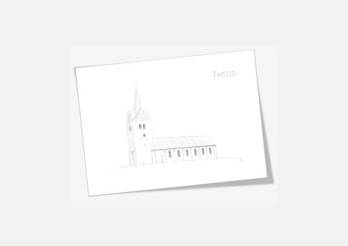Varebillede Thisted Kirke kort