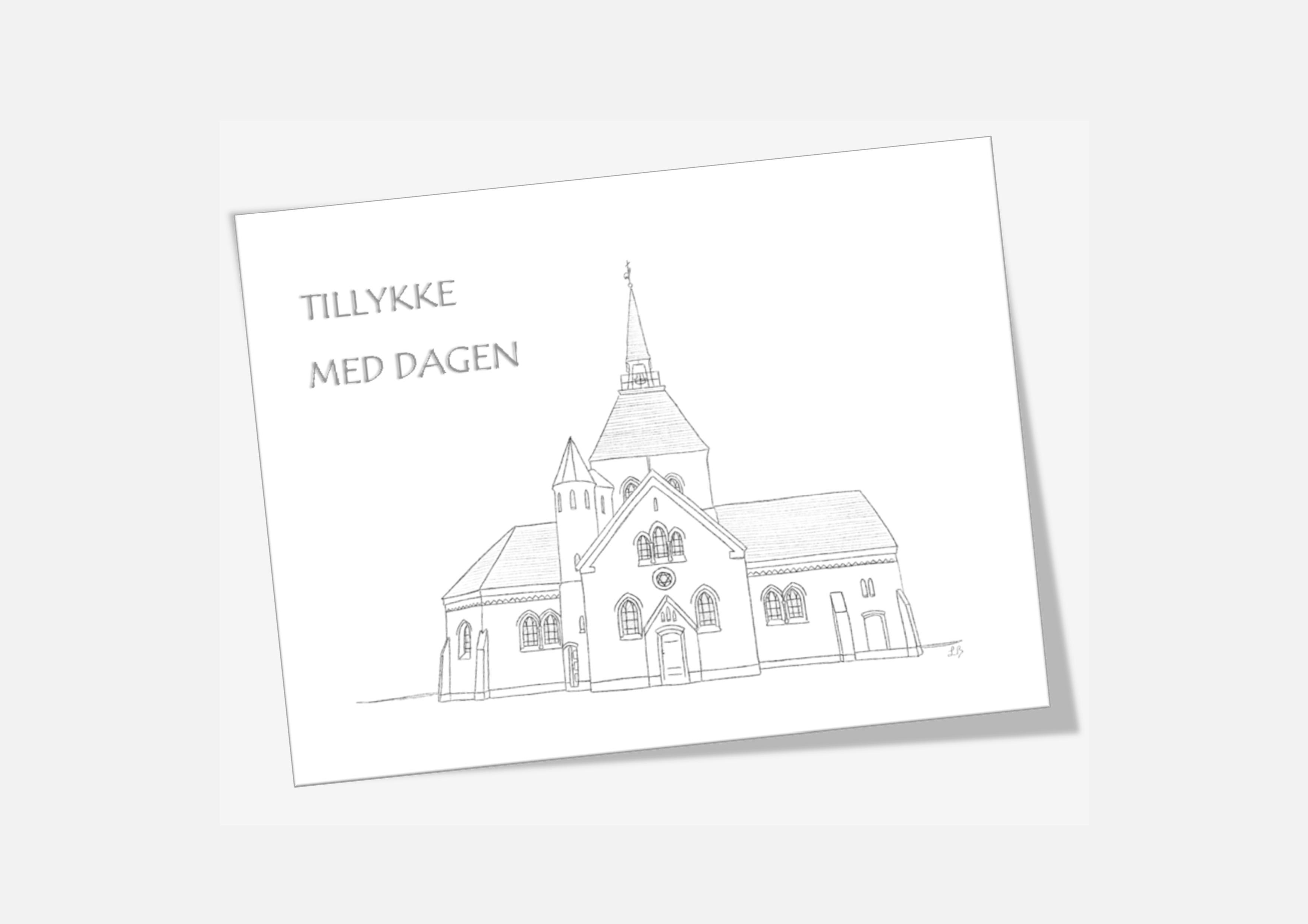 Varebillede Vorupør Kirke telegram