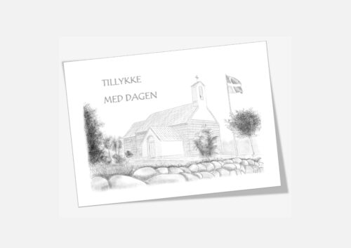 Varebillede Hassing Kirke telegram