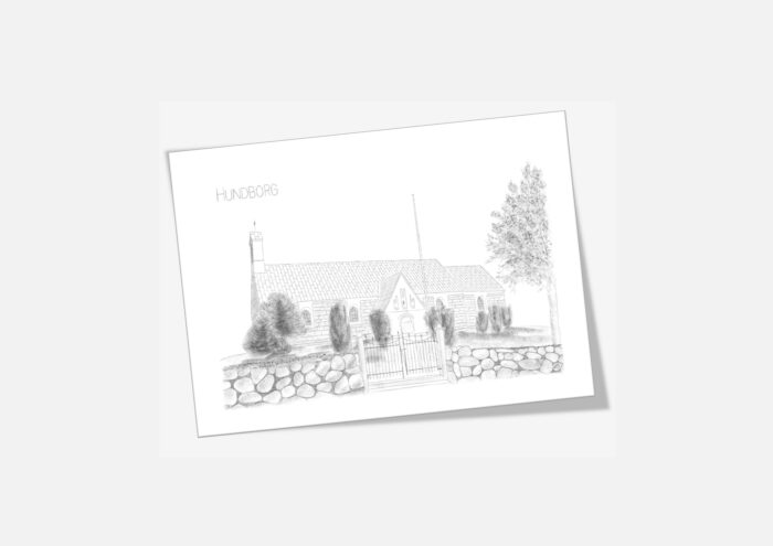 Varebillede Hundborg Kirke kort