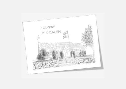 Varebillede Hundborg Kirke telegram