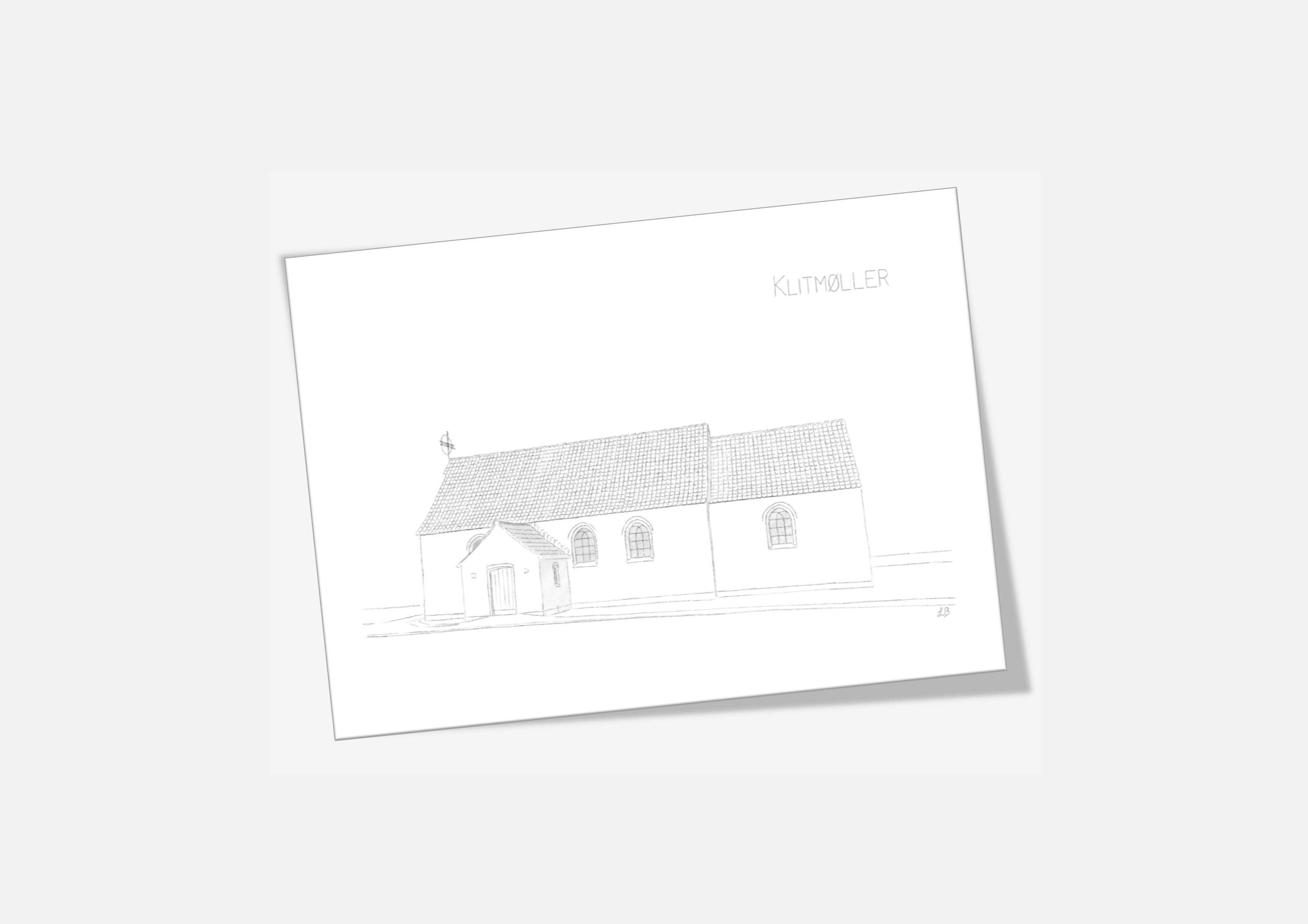 Varebillede Klitmøller Kirke kort