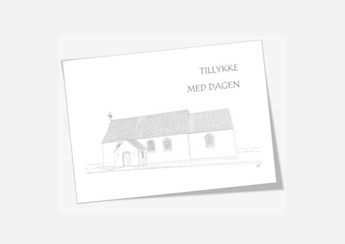 Varebillede Klitmøller Kirke telegram