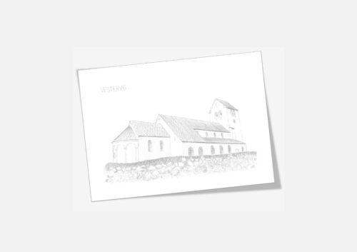 Varebillede Vestervig Kirke kort