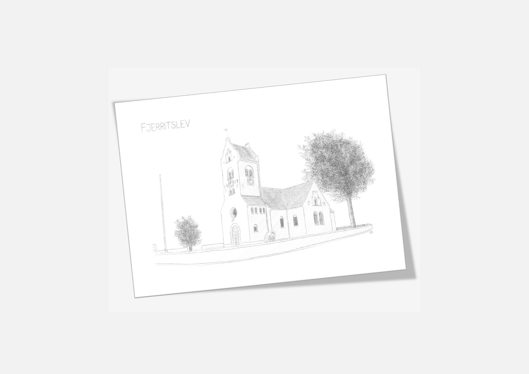Varebillede Fjerritslev Kirke kort