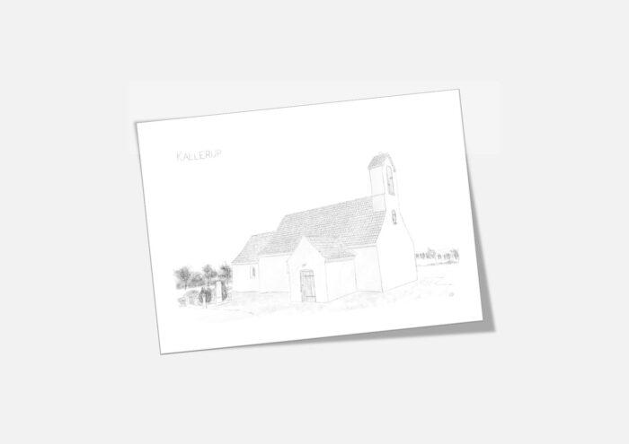 Varebillede Kallerup Kirke kort