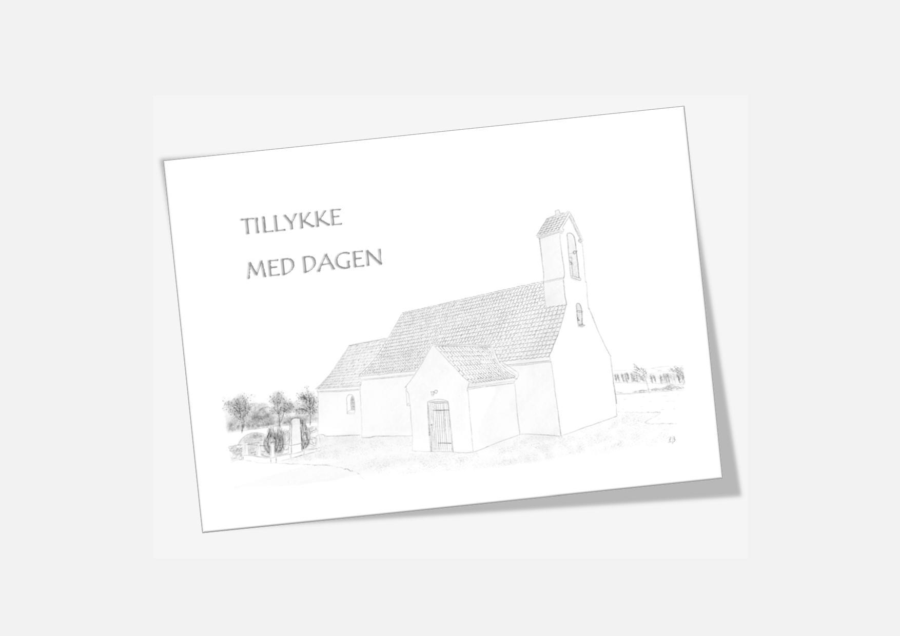Varebillede Kallerup Kirke telegram