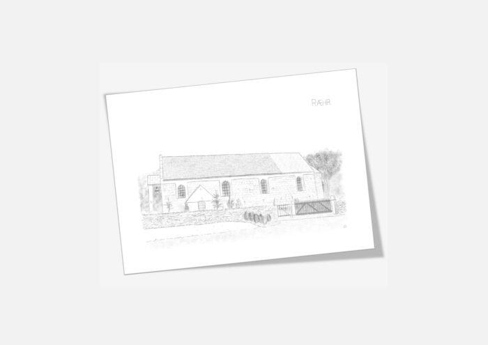 Varebillede Ræhr Kirke kort
