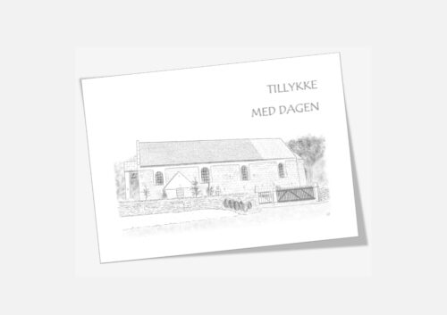 Varebillede Ræhr Kirke telegram