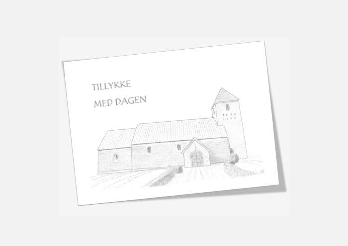 Varebillede Tved Kirke telegram