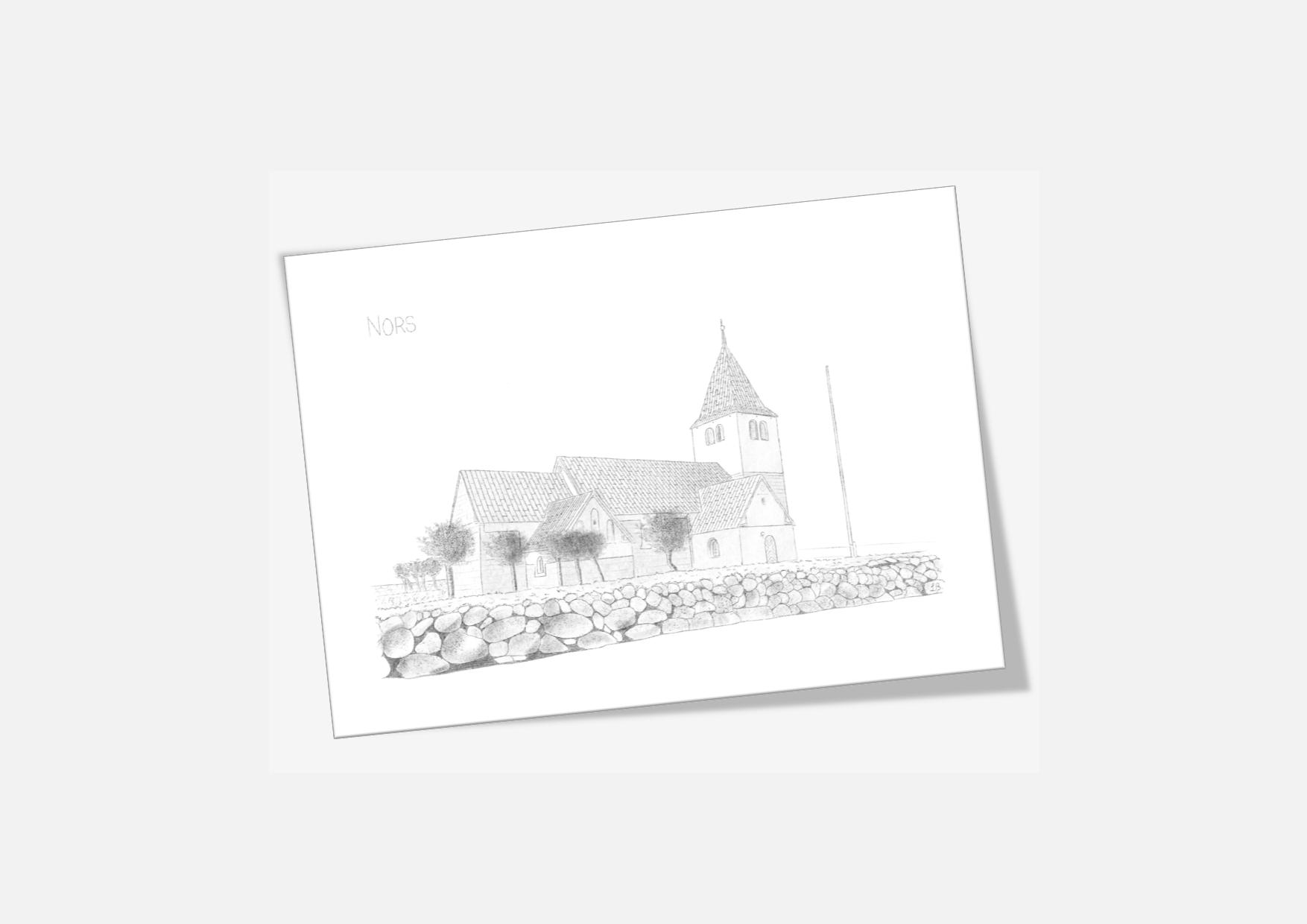 Varebillede Nors Kirke kort