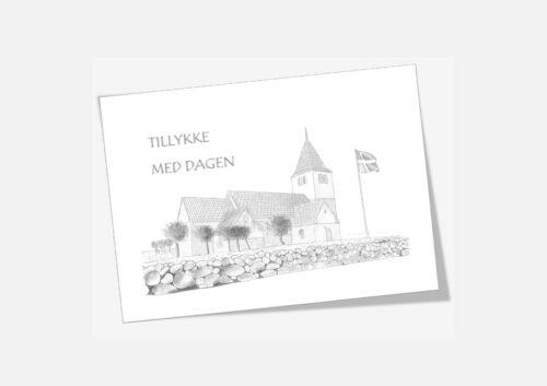Varebillede Nors Kirke telegram