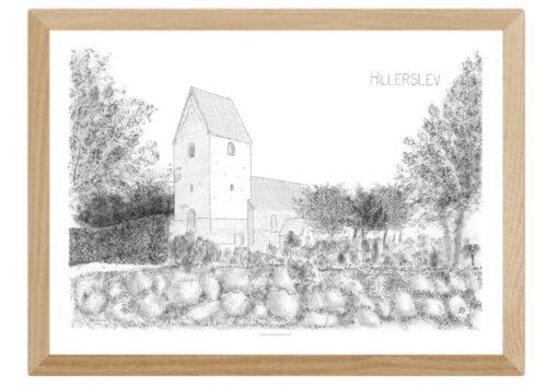Varebillede Hillerslev Kirke - tegnet af Kreative Lise