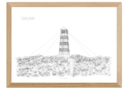 Varebillede Vorupør Overfyr tegnet af Kreative Lise