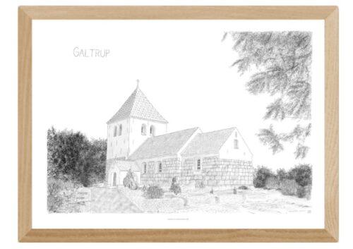 Galtrup Kirke tegnet af Kreative Lise