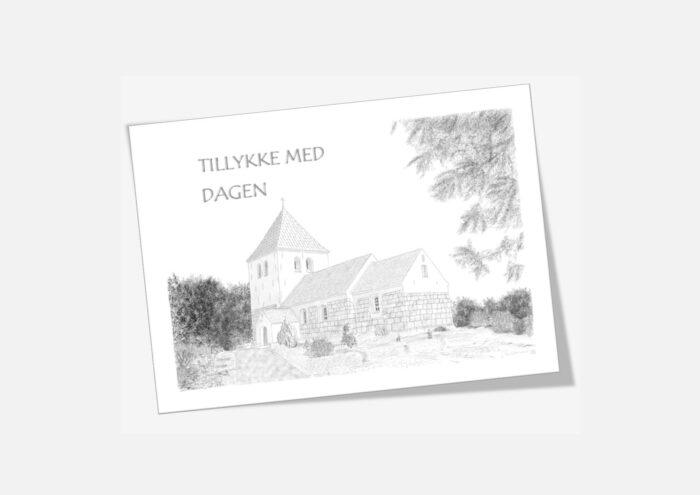 Varebillede Galtrup Kirke telegram