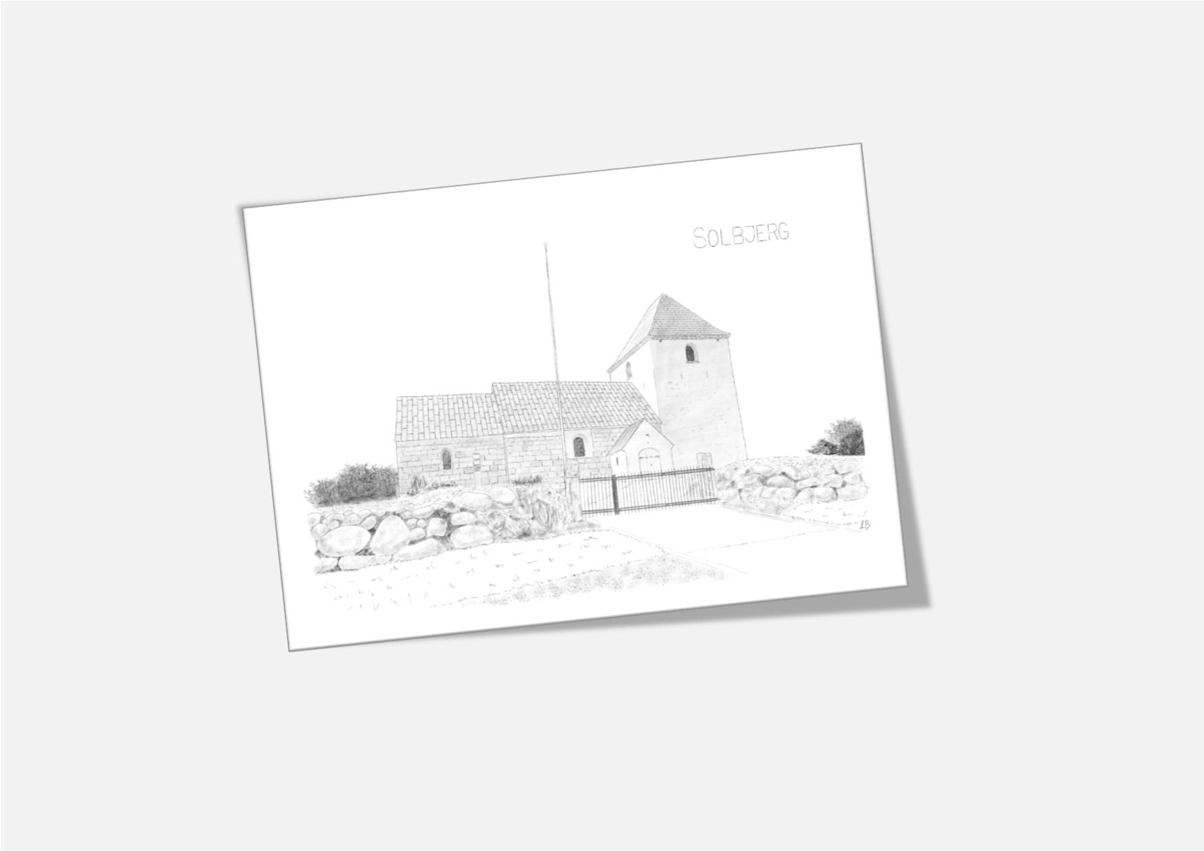Varebillede Solbjerg Kirke kort