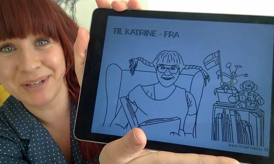 Katrine Bille læser højt på facebook – download gratis tegning