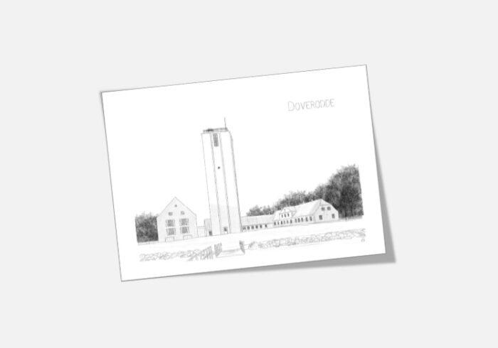 Varebillede Doverodde Købmandsgård kort tegnet af Kreative Lise