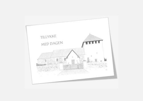 Hørdum Kirke telegram håndtegnet af Kreative Lise