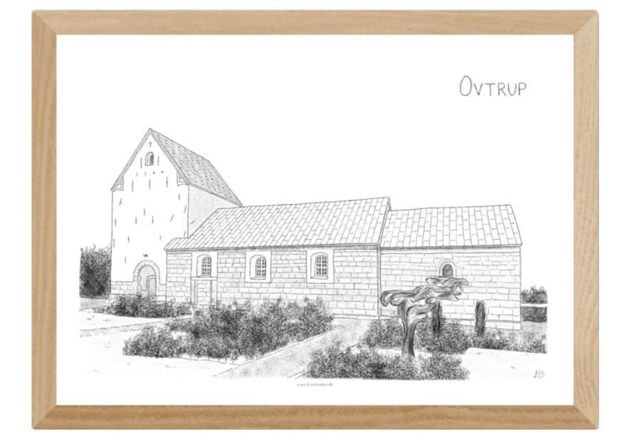 Ovtrup Kirke, Mors, plakat tegnet af Kreative Lise