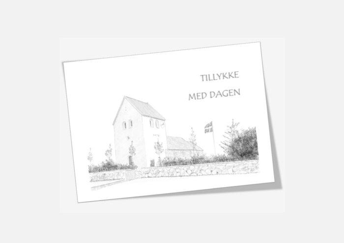 Stagstrup Kirke, Thy - telegram håndtegnet af Kreative Lise