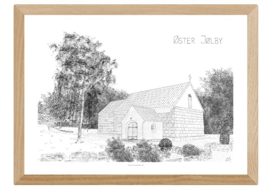 Øster Jølby Kirke, Mors, plakat tegnet af Kreative Lise