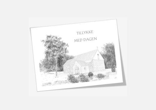 Øster Jølby Kirke, Mors - telegram håndtegnet af Kreative Lise