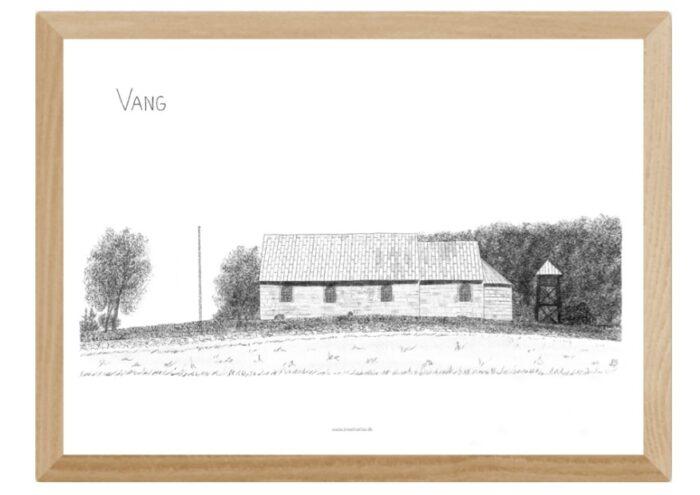 Vang Kirke - plakat tegnet af Kreative Lise