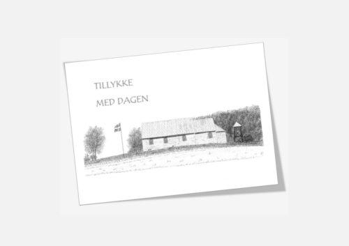 Vang Kirke telegram håndtegnet af Kreative Lise