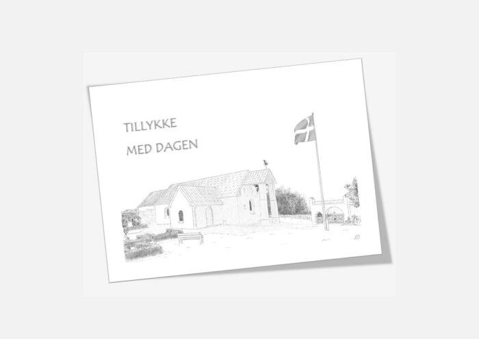 Jannerup Kirke telegram håndtegnet af Kreative Lise